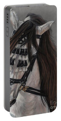 Portable Battery Charger featuring the painting Beauty In Hand by Sheri Gordon