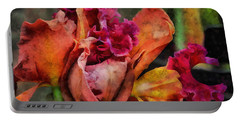 Portable Battery Charger featuring the mixed media Beauty Of An Orchid by Trish Tritz