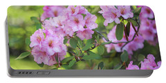 Beauty Of Pink Rhododendron Portable Battery Charger
