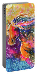 Portable Battery Charger featuring the painting Beauty Of The Prairie by Zaira Dzhaubaeva