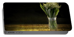 Vase Of Flowers Photographs Portable Battery Chargers