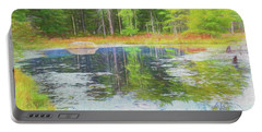 Beaver Pond Reflections Portable Battery Charger