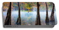 Beavers Bend Cypress Grove Portable Battery Charger by Inge Johnsson