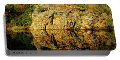 Beaver's Bend Rock Wall Reflection Portable Battery Charger
