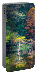 Beavers Bend Trees Portable Battery Charger by Inge Johnsson