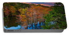 Beavers Bend Twilight Portable Battery Charger by Inge Johnsson