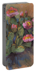 Beavertail Cactus 4 Portable Battery Charger by Diane McClary