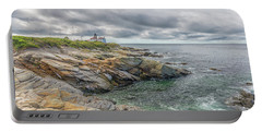 Beavertail Lighthouse On Narragansett Bay Portable Battery Charger