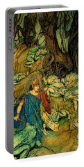Portable Battery Charger featuring the painting Becuma Of The White Skin 1920 Medieval Irish Mythology by Peter Gumaer Ogden