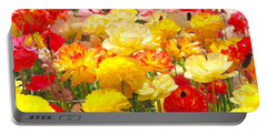 Bed Of Flowers Portable Battery Charger