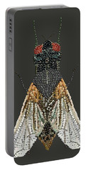 Bedazzled Housefly Transparent Background Portable Battery Charger