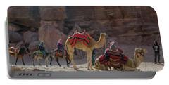 Bedouin Tribesmen, Petra Jordan Portable Battery Charger