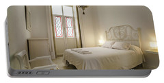 Portable Battery Charger featuring the photograph Bedroom Apartment In The Heart Of Cadiz by Pablo Avanzini