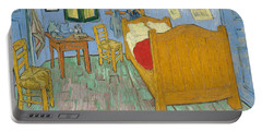 Portable Battery Charger featuring the painting Bedroom At Arles by Van Gogh