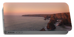 Bedruthan Steps Sunset Portable Battery Charger