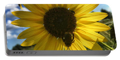 Bee And Sunflower Portable Battery Charger