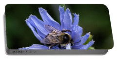 Portable Battery Charger featuring the photograph Bee Flower by Nikki McInnes