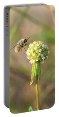 Bee Fly On A Wildflower Portable Battery Charger by Christopher L Thomley