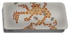 Portable Battery Charger featuring the painting Bee Hive # 4 by Katherine Young-Beck