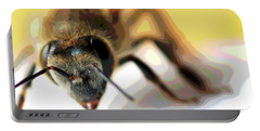 Portable Battery Charger featuring the photograph Bee In Macro 5 by Micah May