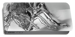Bee In Macro Chrome Portable Battery Charger