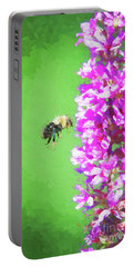 Bee Kissing A Flower Portable Battery Charger
