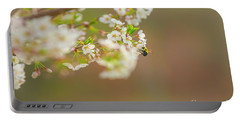 Bee On A Cherry Blossom Portable Battery Charger