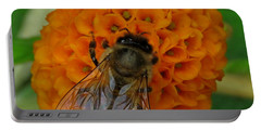 Bee On An Orange Ball Buddleia Portable Battery Charger