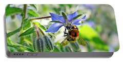 Bee On Borage Portable Battery Charger