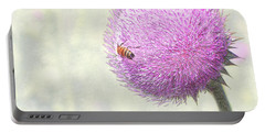 Bee On Giant Thistle Portable Battery Charger