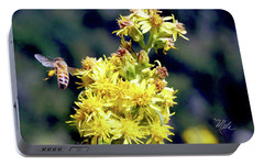 Portable Battery Charger featuring the photograph Bee On Goldenrod by Meta Gatschenberger