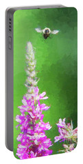 Bee Over Flowers Portable Battery Charger