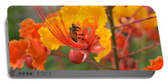 Bee Pollinating Bird Of Paradise Portable Battery Charger