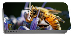 Bee Visits Rosemary  Portable Battery Charger