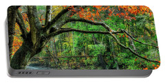Beech Tree And Swinging Bridge Portable Battery Charger