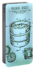 Beer Keg 1994 Patent - Blue Portable Battery Charger by Scott D Van Osdol