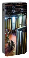 Portable Battery Charger featuring the photograph Beer Vats by Linda Unger