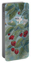 Bees Berries And Blooms Portable Battery Charger