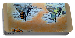 Bees  Portable Battery Charger by Francine Heykoop