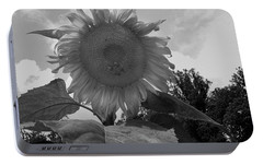 Portable Battery Charger featuring the digital art Bees On A Sunflower by Chris Flees