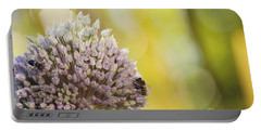 Bees On Garlic Blossom Portable Battery Charger
