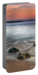 Before Sunset At Shell Beach Portable Battery Charger