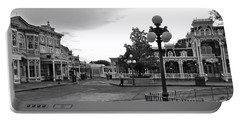Before The Gates Open Black And White Magic Kingdom Walt Disney World Mp Portable Battery Charger