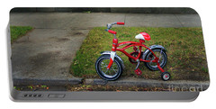 Portable Battery Charger featuring the photograph Beginners Bicycle by Craig J Satterlee