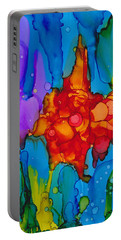 Portable Battery Charger featuring the painting Beginnings Abstract by Nikki Marie Smith