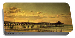 Behind Cherry Grove Pier  Portable Battery Charger by Trish Tritz