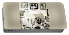 Portable Battery Charger featuring the photograph Behind The Barber Chair by Joe Jake Pratt