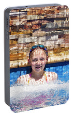 Portable Battery Charger featuring the photograph Behind The Falls by Linda Lees