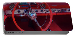 Behind The Wheel 55 Ford Thunderbird Portable Battery Charger