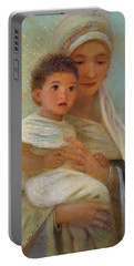 Portable Battery Charger featuring the painting Behold The Light by Nancy Lee Moran